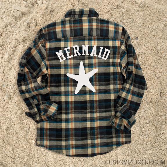 Flannel Mermaid Star
