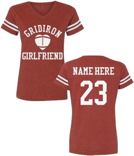 Custom Sporty Football Girlfriend Shirts