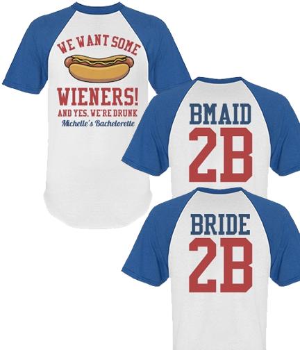 Sports Bachelorette Party Shirt for Baseball & Football