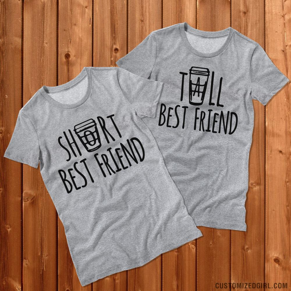 Short coffee best friend ladies slim fit basic promo for T shirt design upload picture