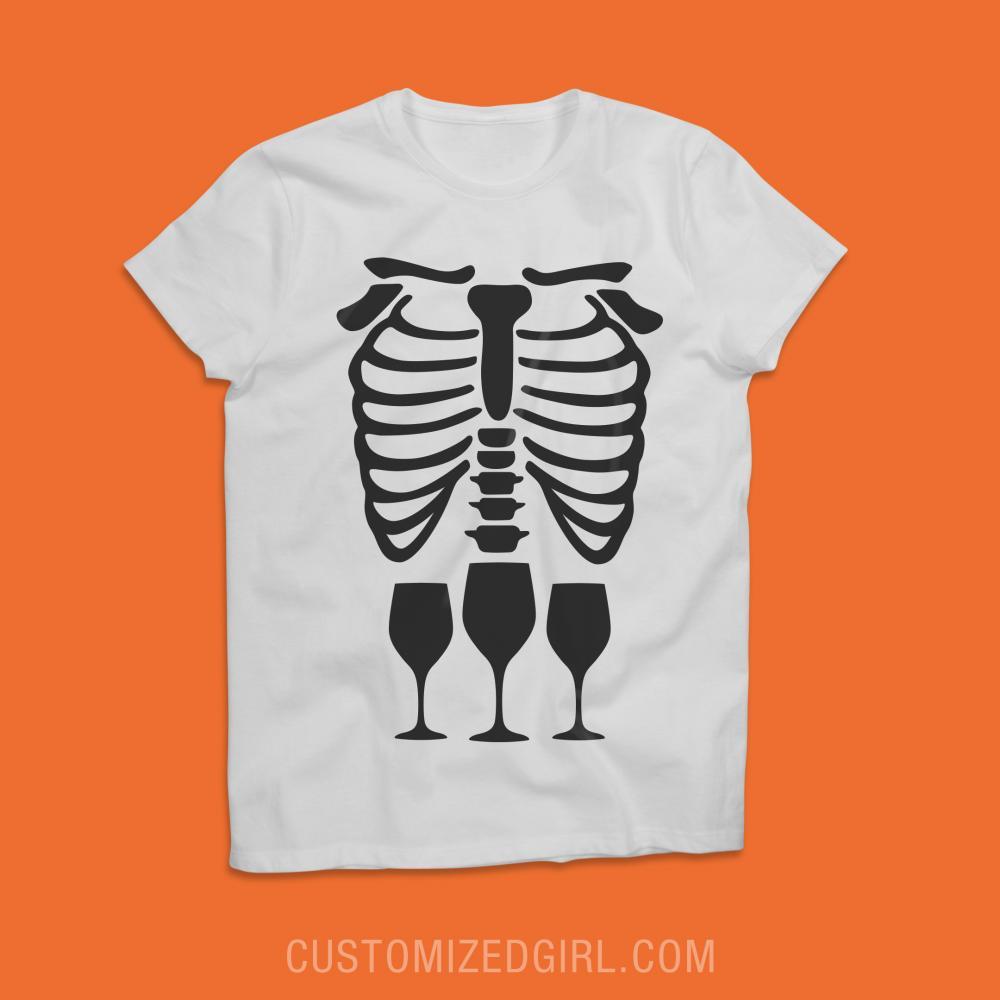 Skeleton Wino Costume Tee