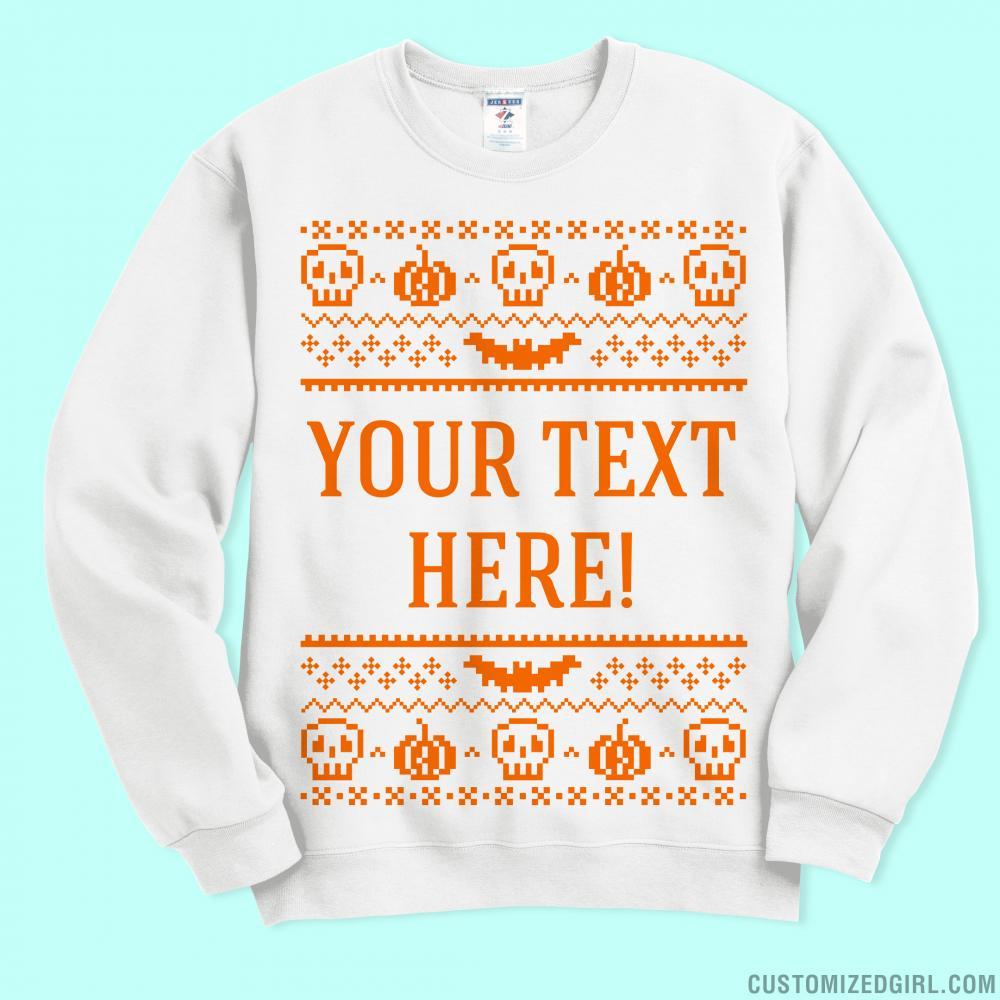 Custom Ugly Halloween Sweater
