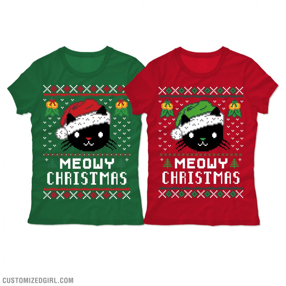 Meowy Christmas Sweater T