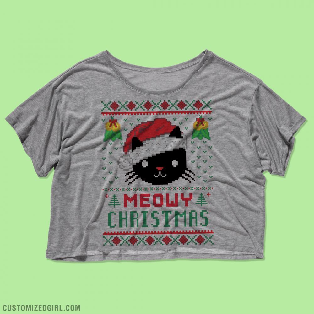 Meowy Christmas Flowy Top