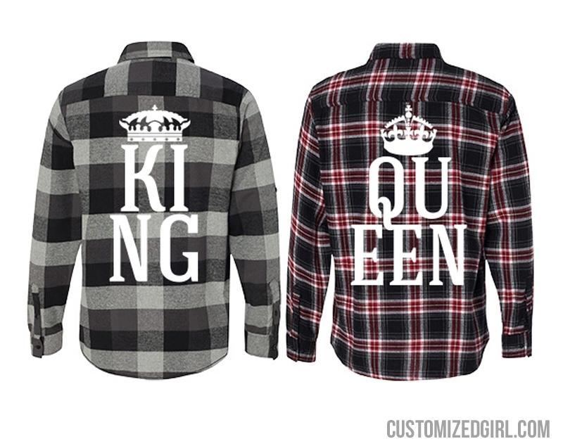 Matching King Queen Flannel Girl