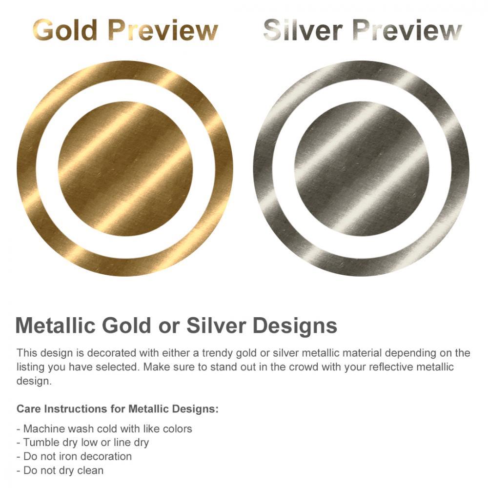 Custom Metallic Text Tee