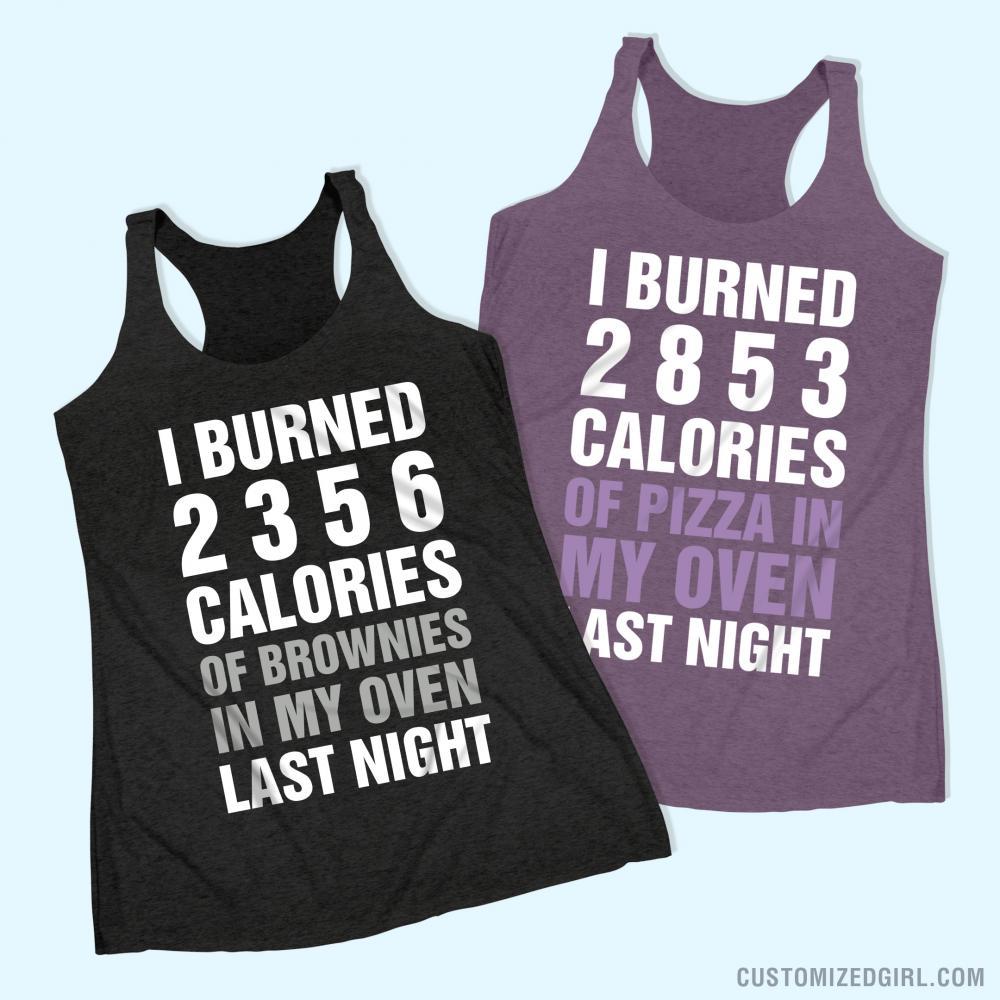 Funny Fitness Burning Pizza