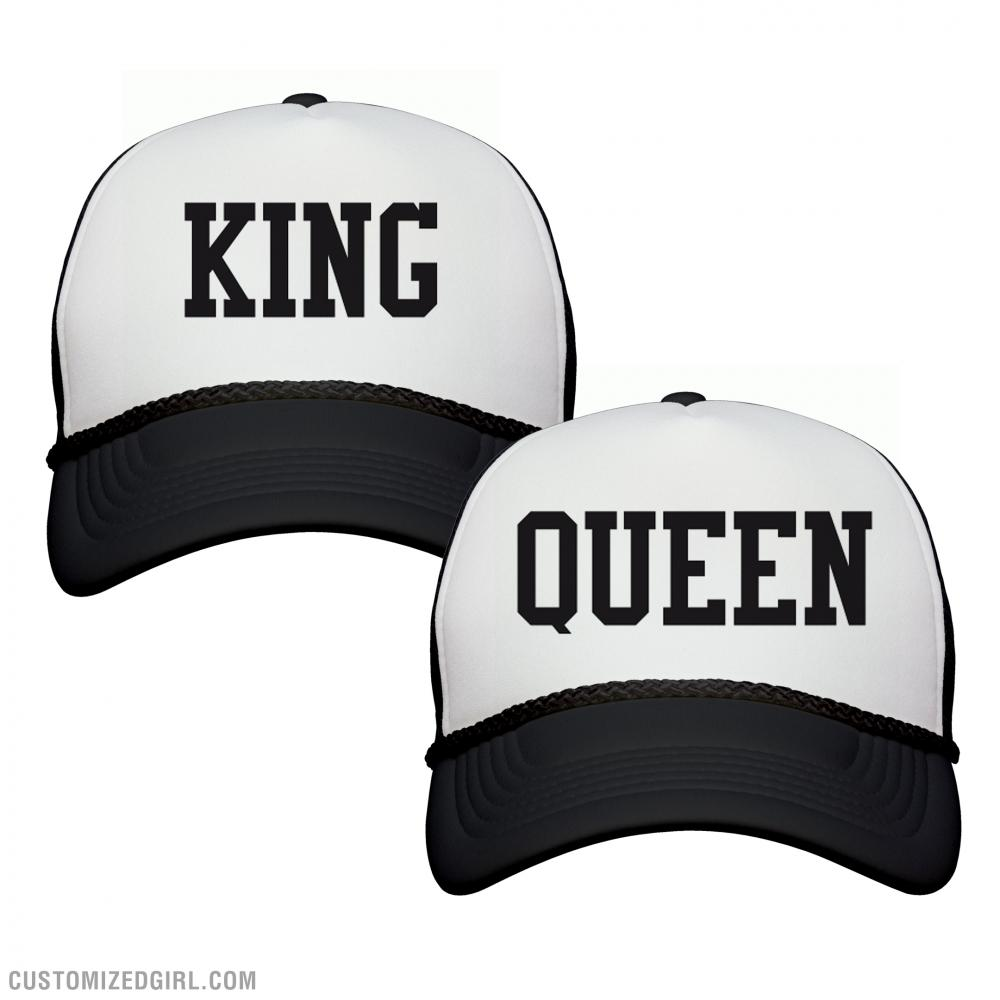 fb34b263b5b Matching King and Queen Hats 1 Snapback Trucker Hat