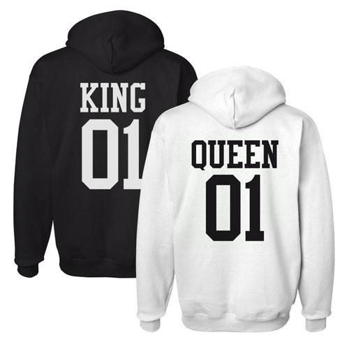 matching king queen hoodies 1. Black Bedroom Furniture Sets. Home Design Ideas