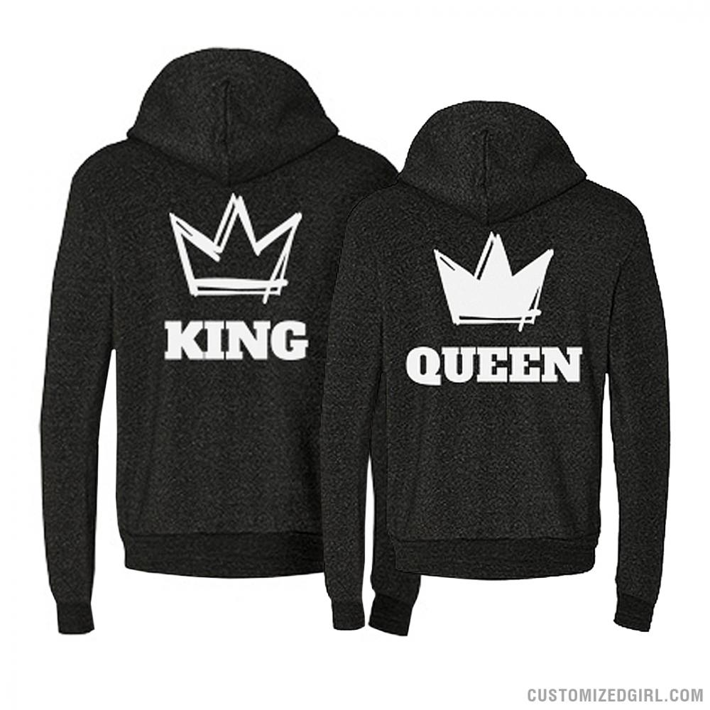 king and queen couple hoodies 2. Black Bedroom Furniture Sets. Home Design Ideas