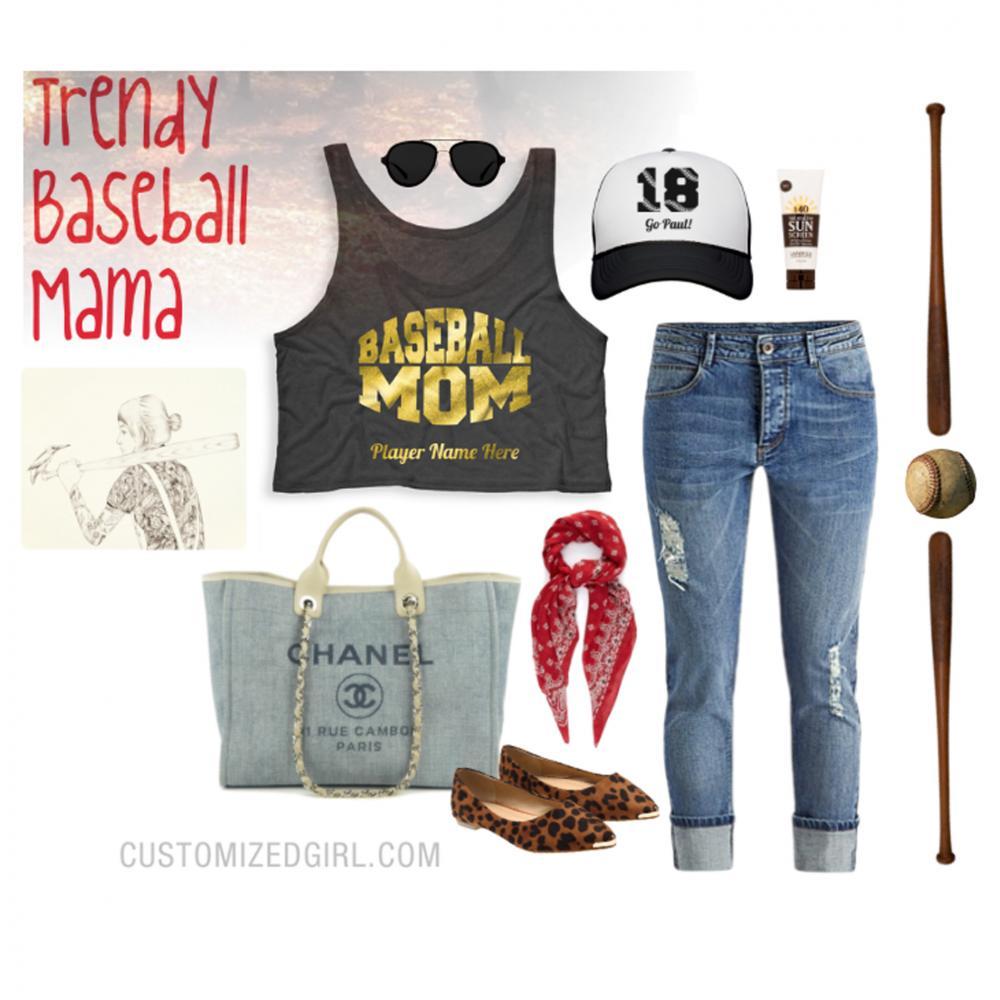 Custom Baseball Mom Numbers
