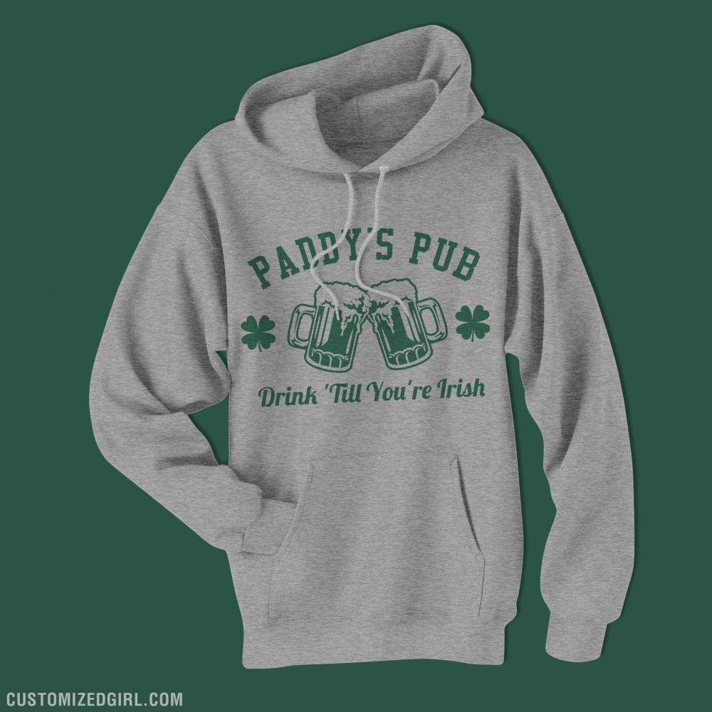 Paddy's Pub St Patrick's Hoodies