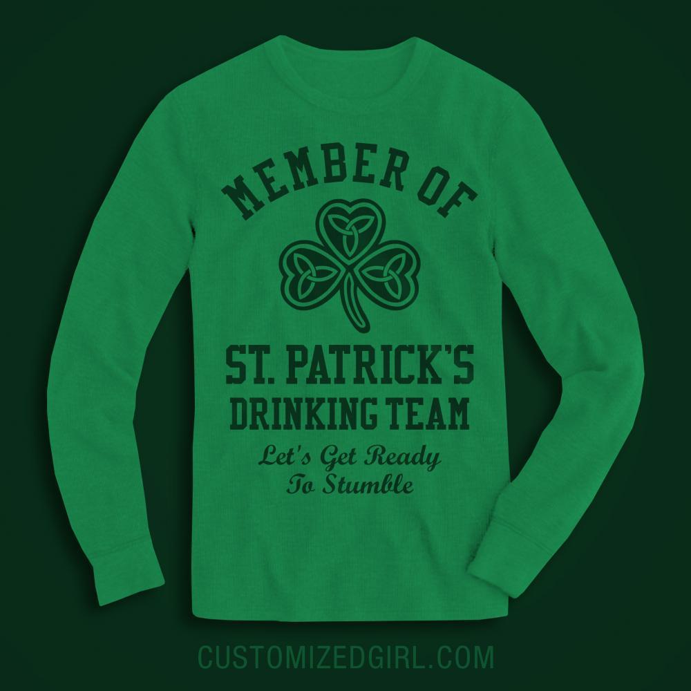 St Patty's Custom Drinking Teams