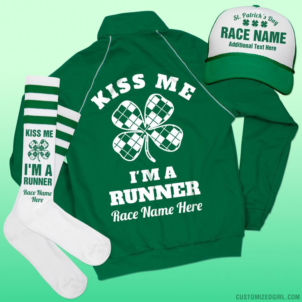Custom St Pattys Run/Walk Jacket