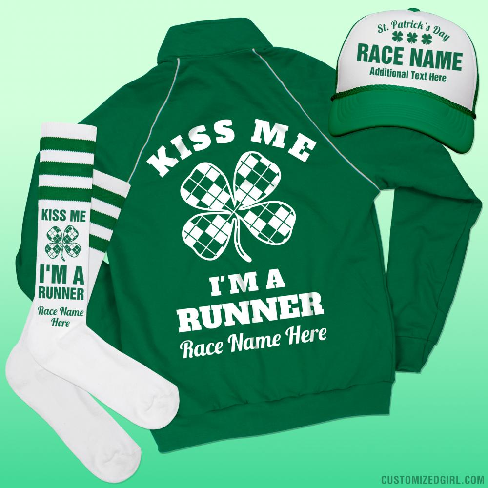 St Patricks Custom Race Socks