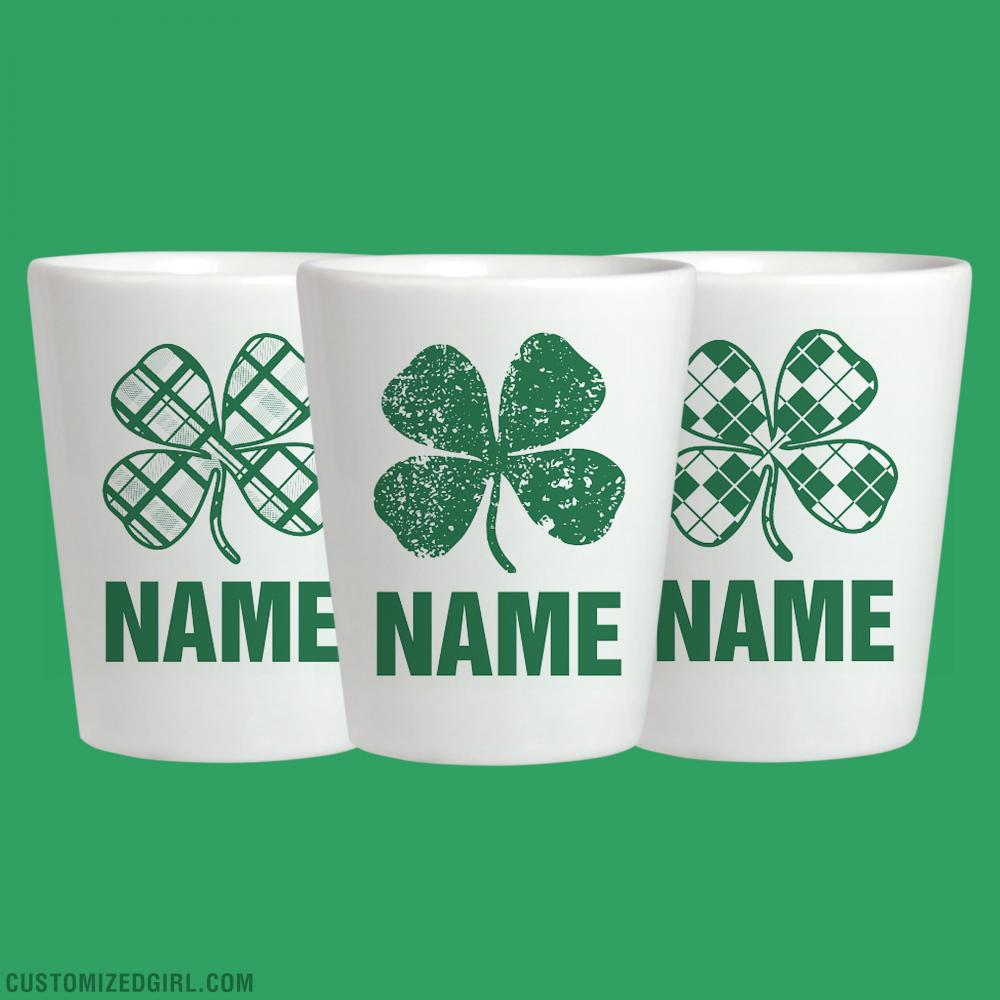 Custom Name Irish St Pattys Shot