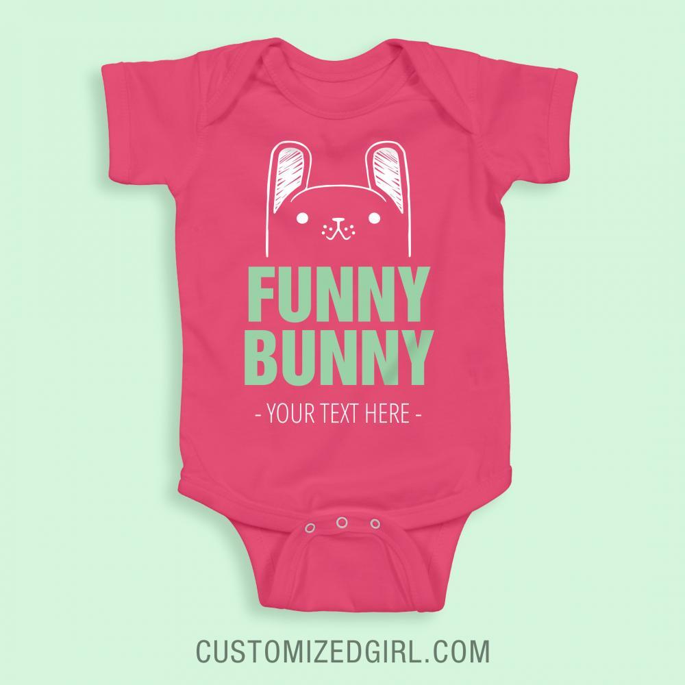 Custom Easter Funny Bunny Bodysuit