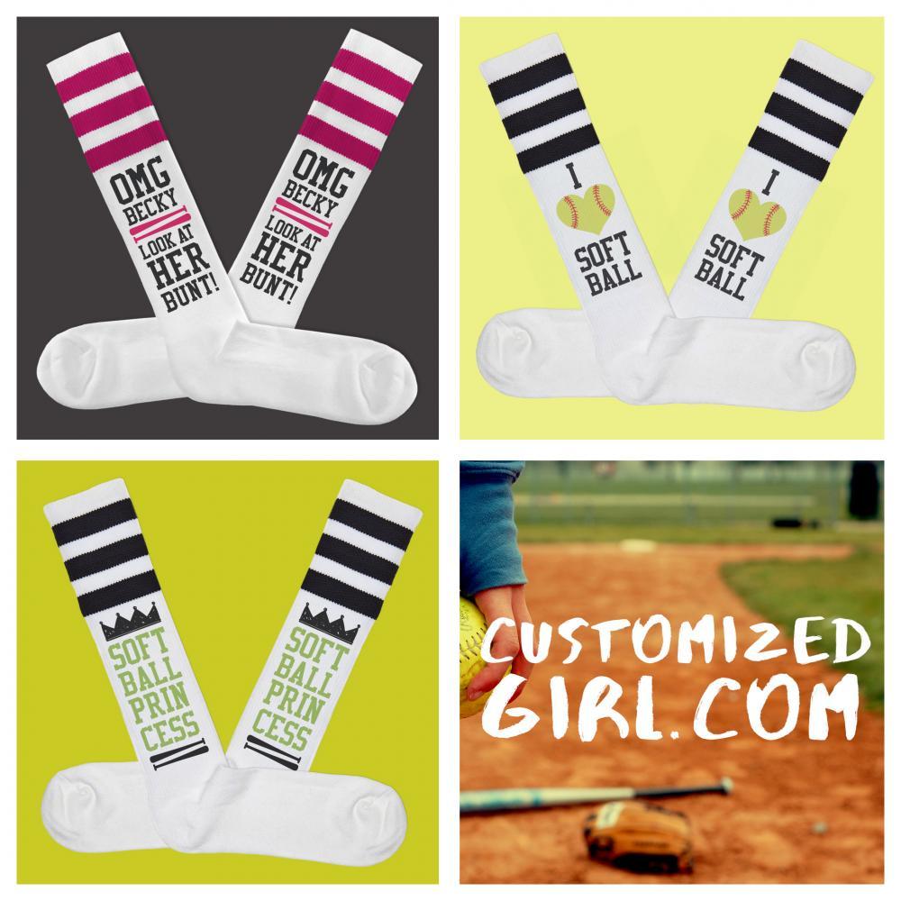 Softball Princess Socks