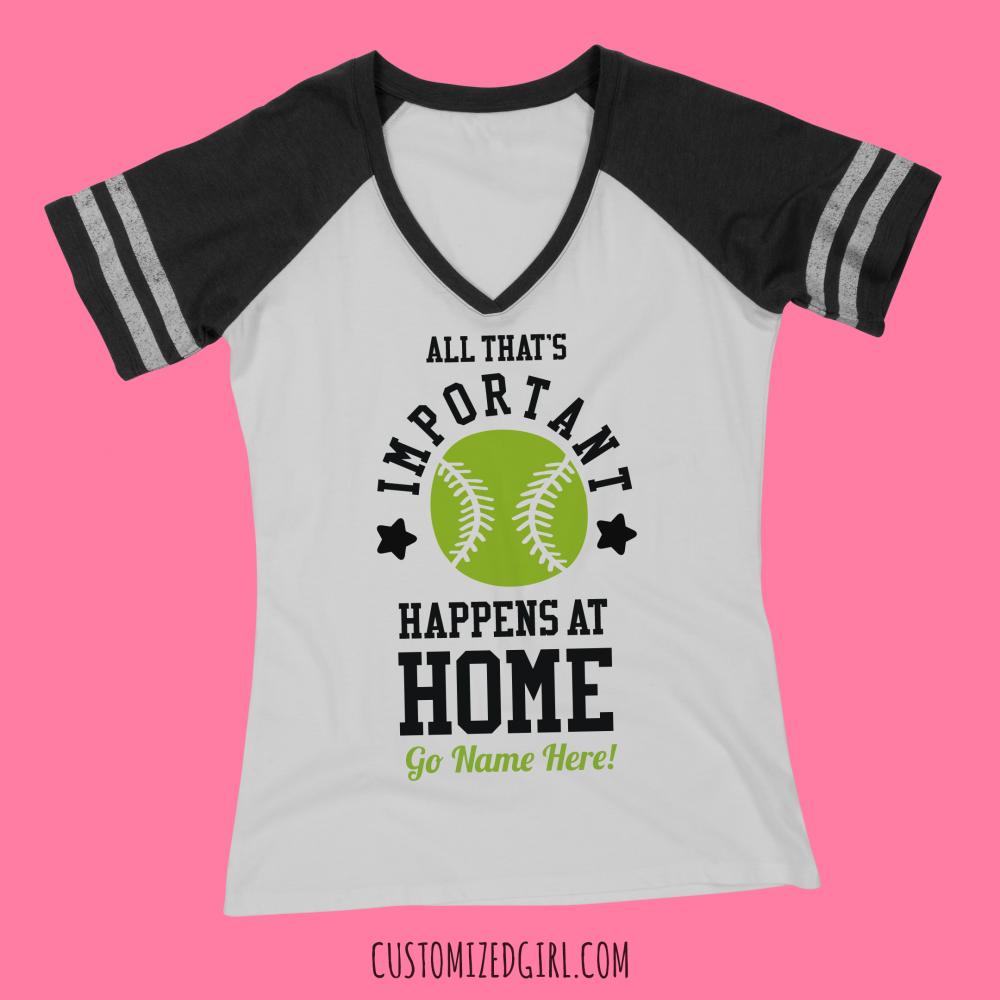 Home Is Where Softball Is Custom