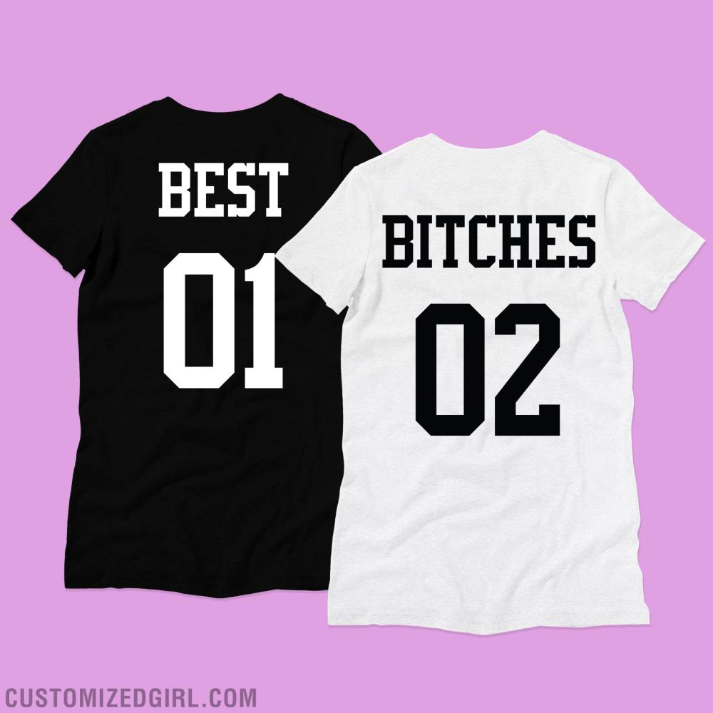 Best Bitches Black And White Tee