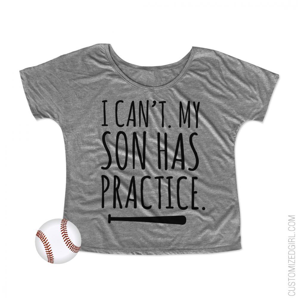 I Can't My Son Has Baseball