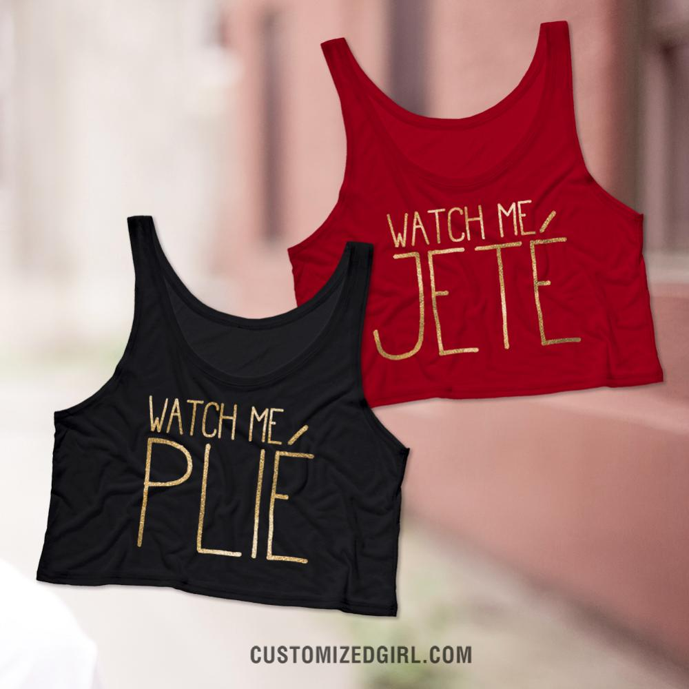 Watch Me Plié Ballet Crop