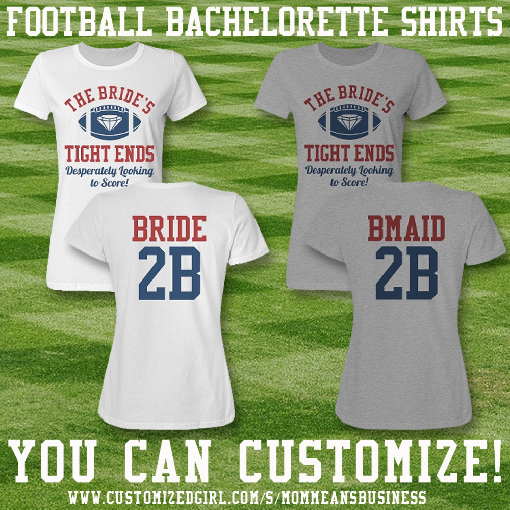 Inexpensive Football Bachelorette Bride Shirts