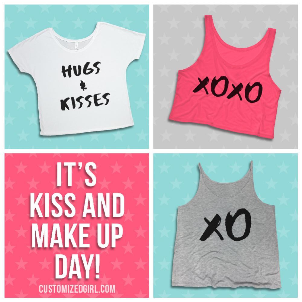X O Kiss And Hug Flowy Tank