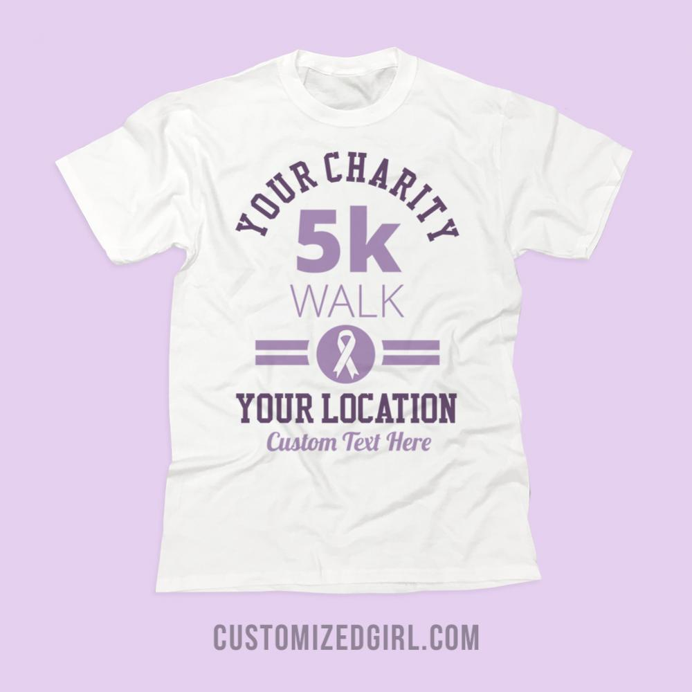 Custom Charity Ribbon Walk Shirt
