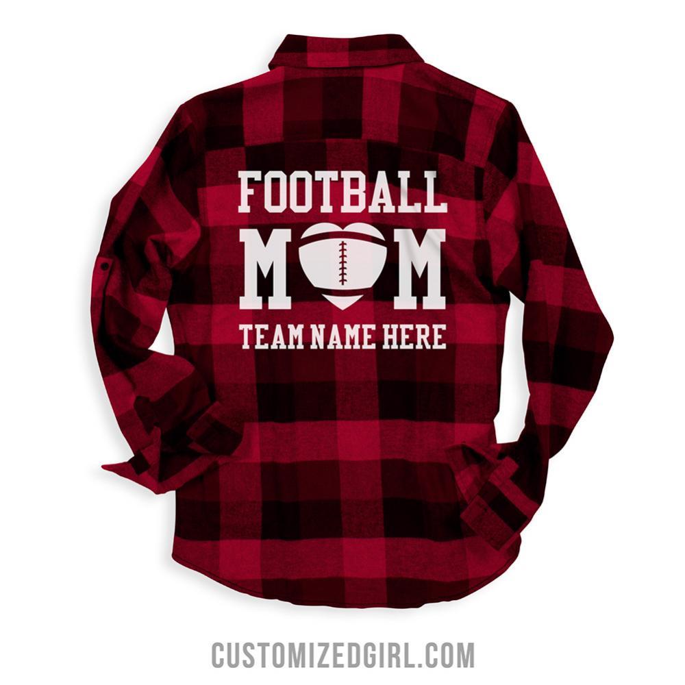 Cute Custom Plaid Football Mom