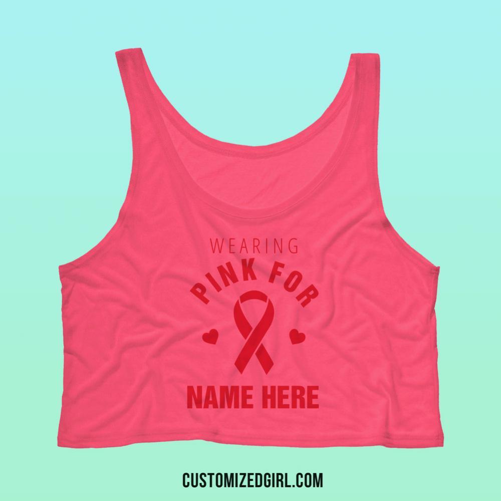 Custom Pink Breast Cancer Tank