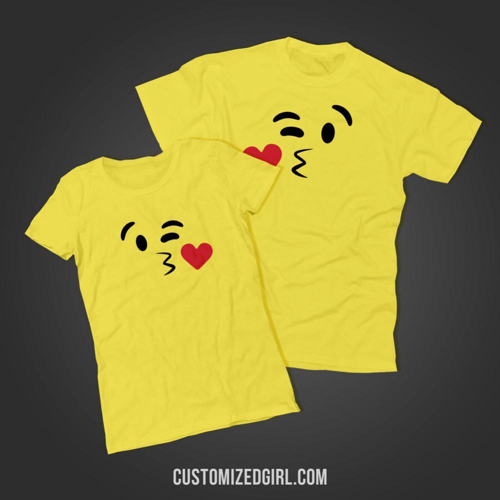 Kissy Face Emoji Costume Right