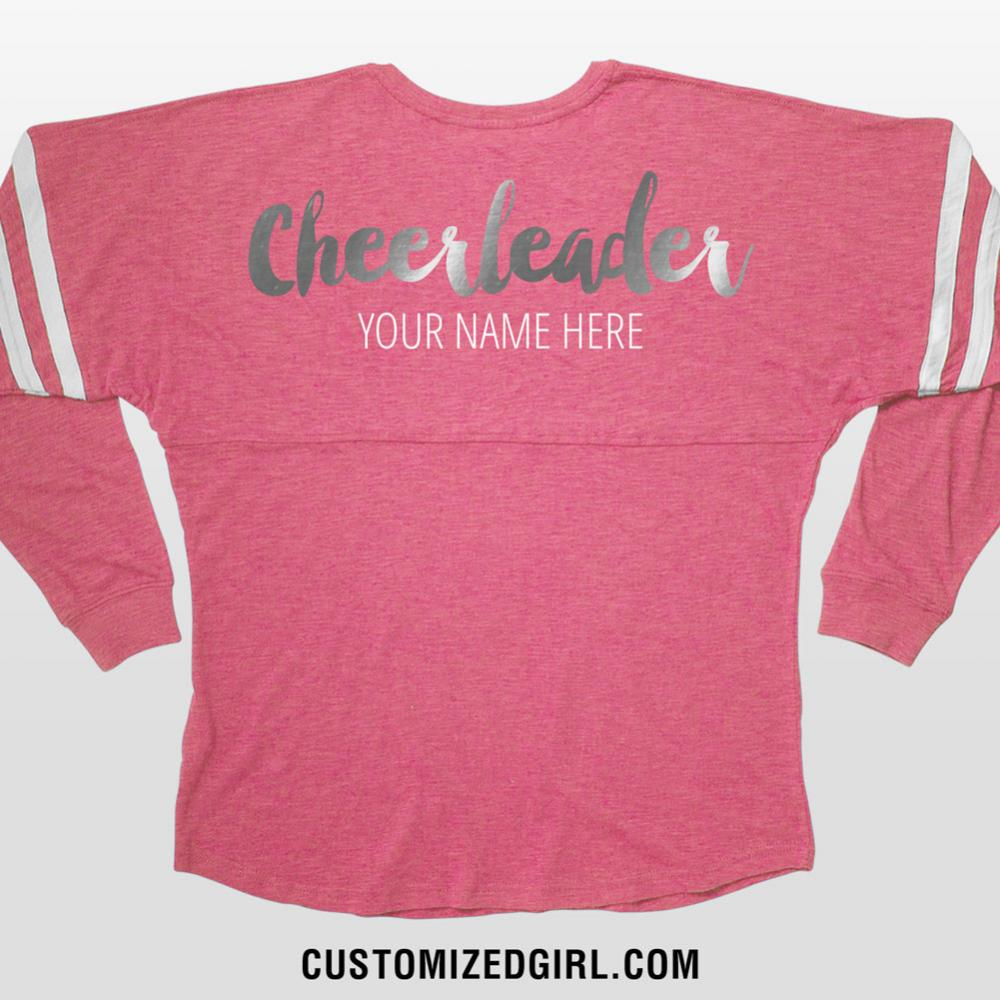 Silver Metallic Custom Cheer Design