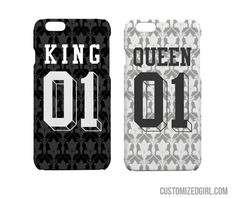 King & Queen Matching iPhone Cases