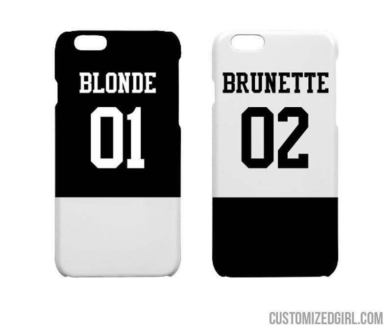 size 40 f3cda 6e039 Matching Blonde Brunette Friends iPhone 7 Plus Slim Fit Snap Case