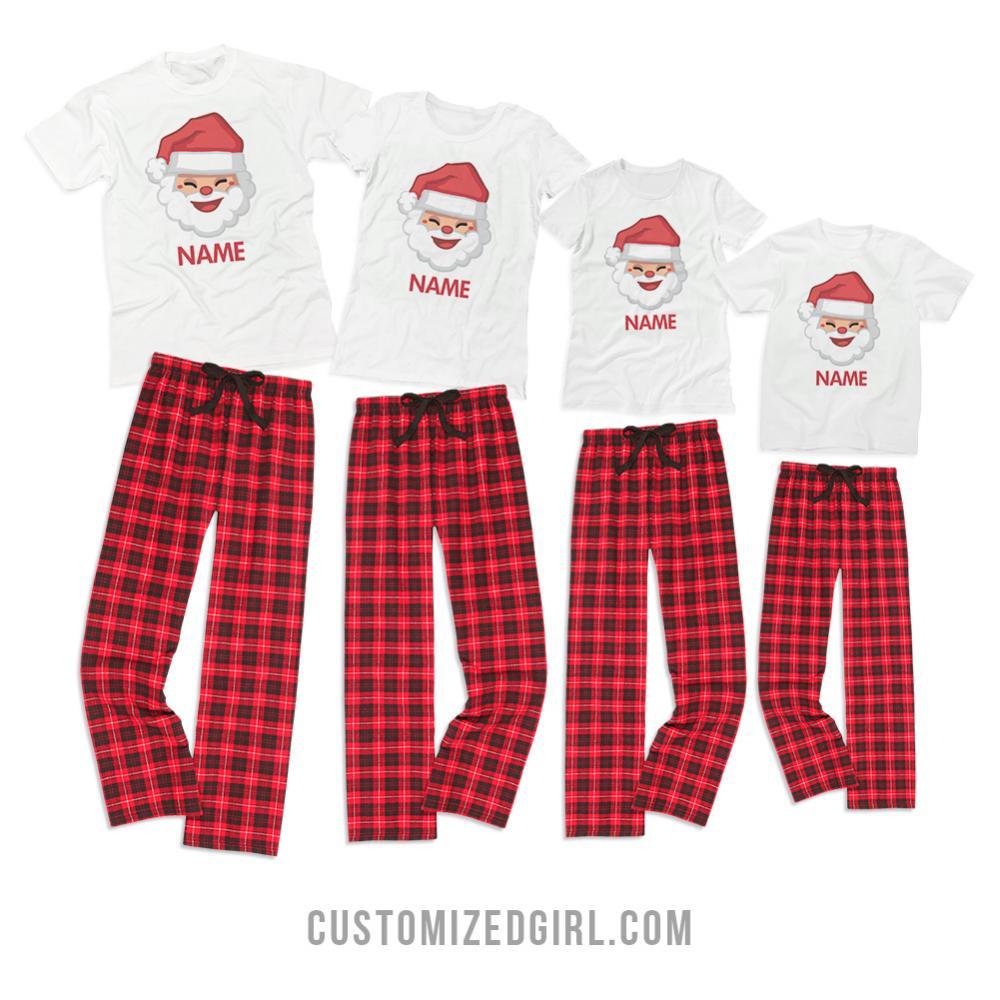 Kids Custom Santa Pajamas