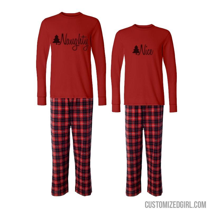 Matching Couple Xmas Pajamas Nice