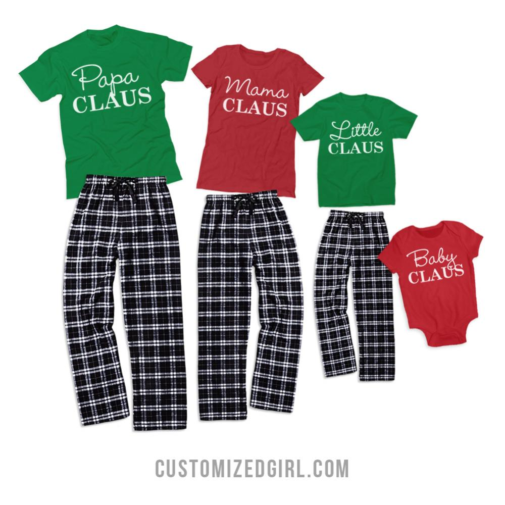 Kids Matching Flannel Xmas Family