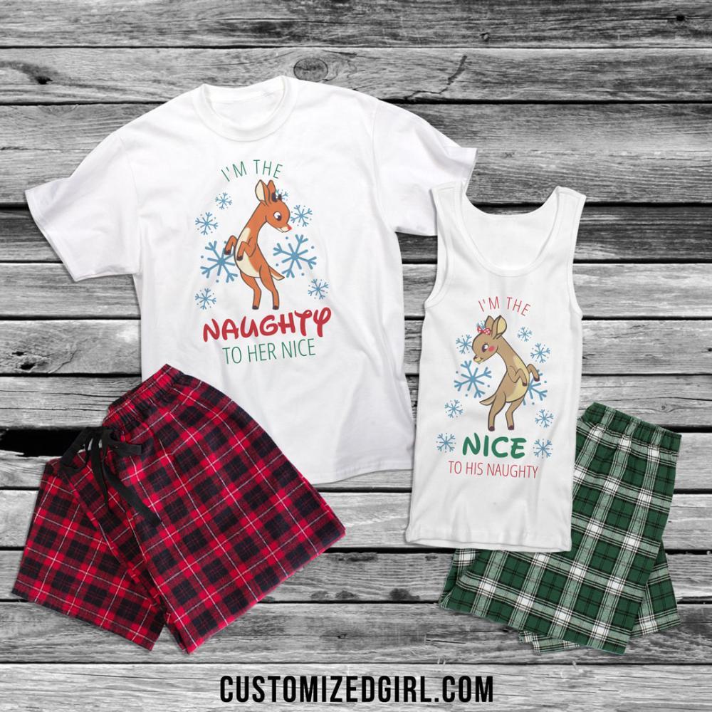 Naughty To Her Nice Couple Pajamas