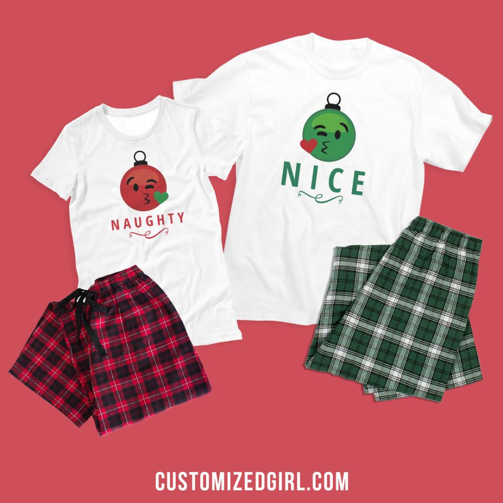 Naughty Nice Matching Pajamas 2