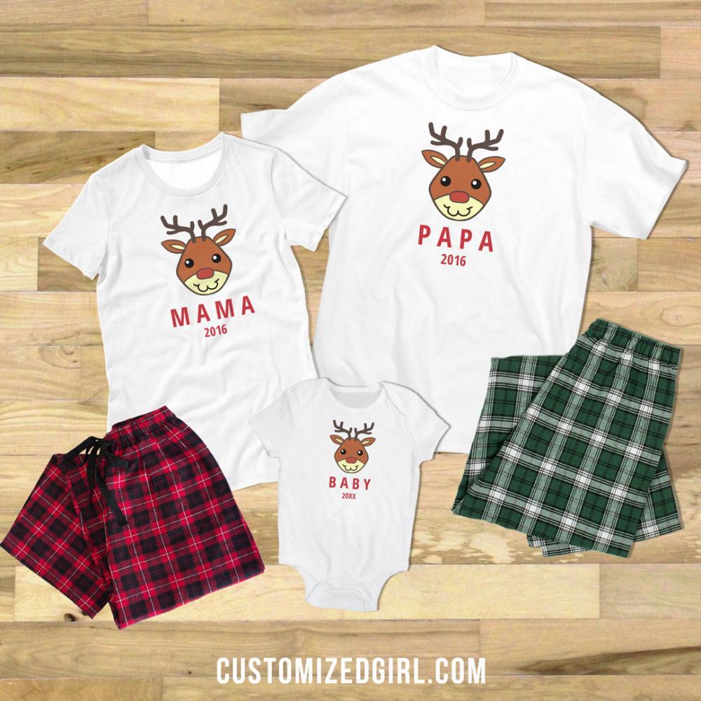 Rudolph Family Pajamas Baby
