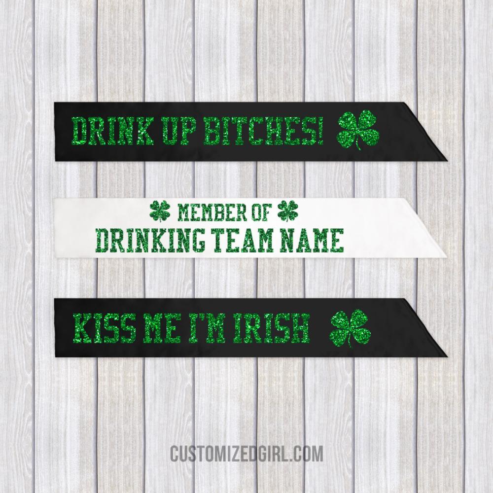 St. Patrick's Glitter Drinking Team