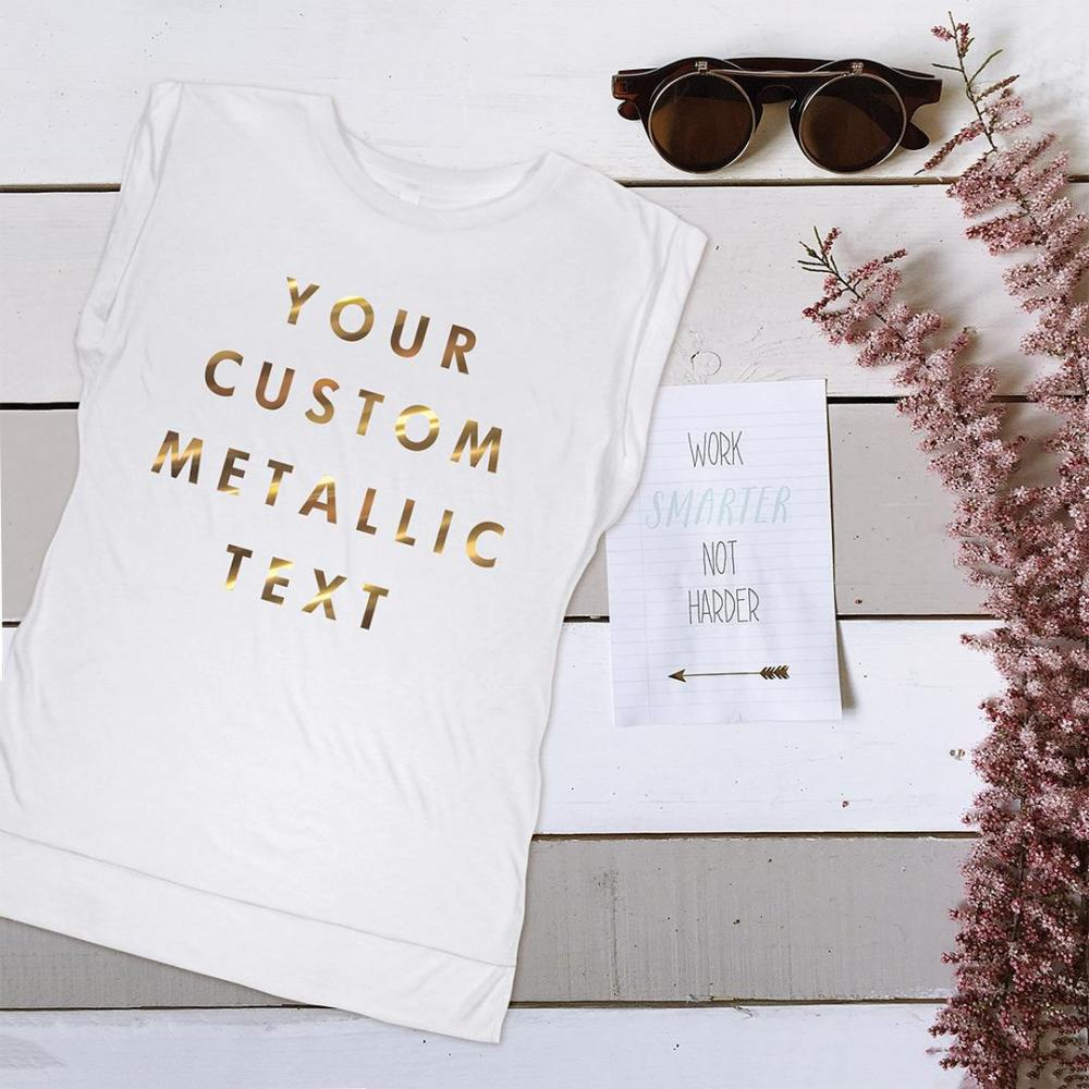 Custom Metallic Text