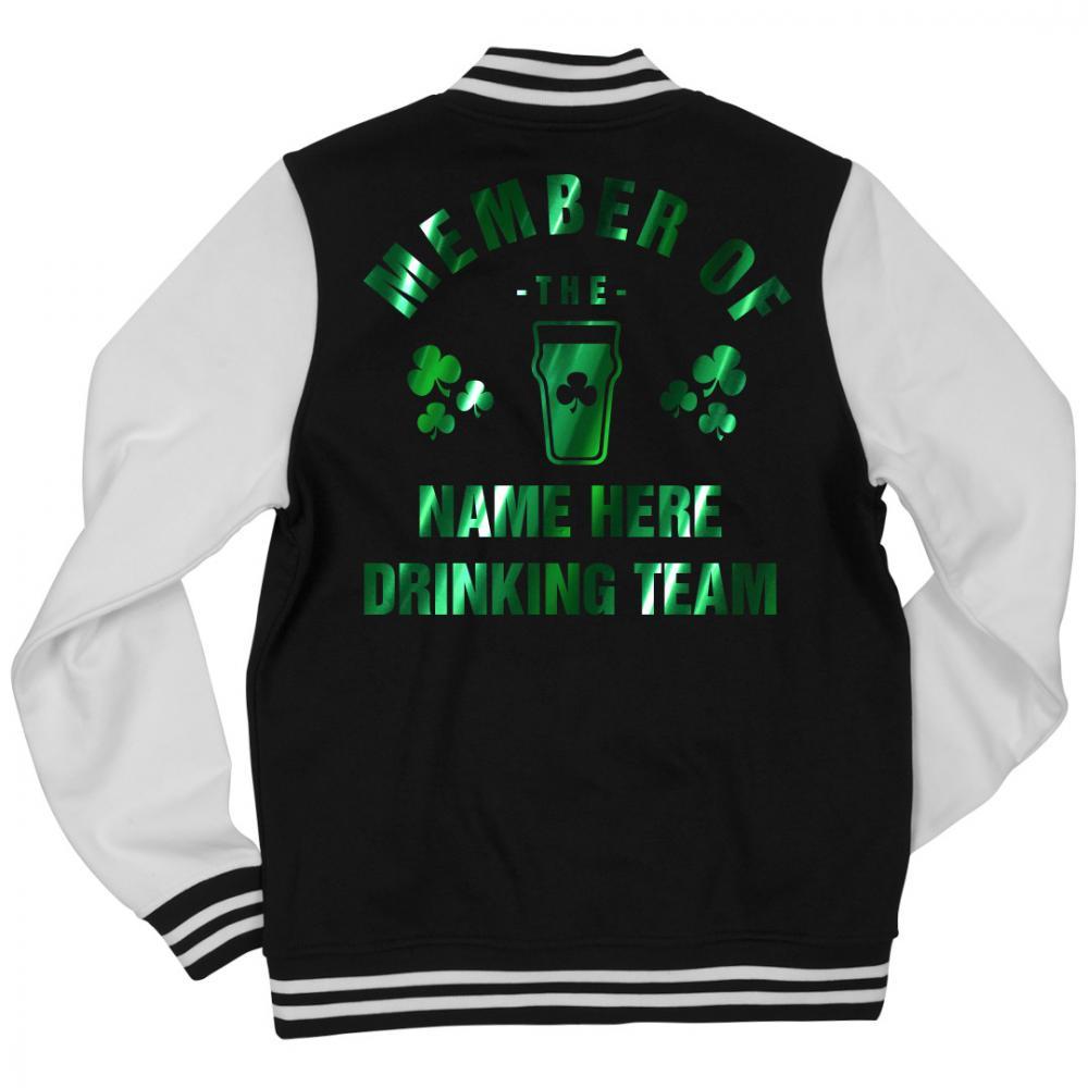Custom Irish Drinking Team Bomber