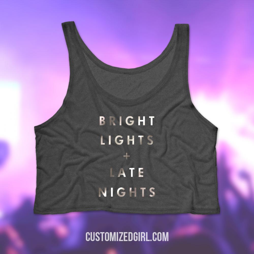 Metallic Bright Lights Late Nights