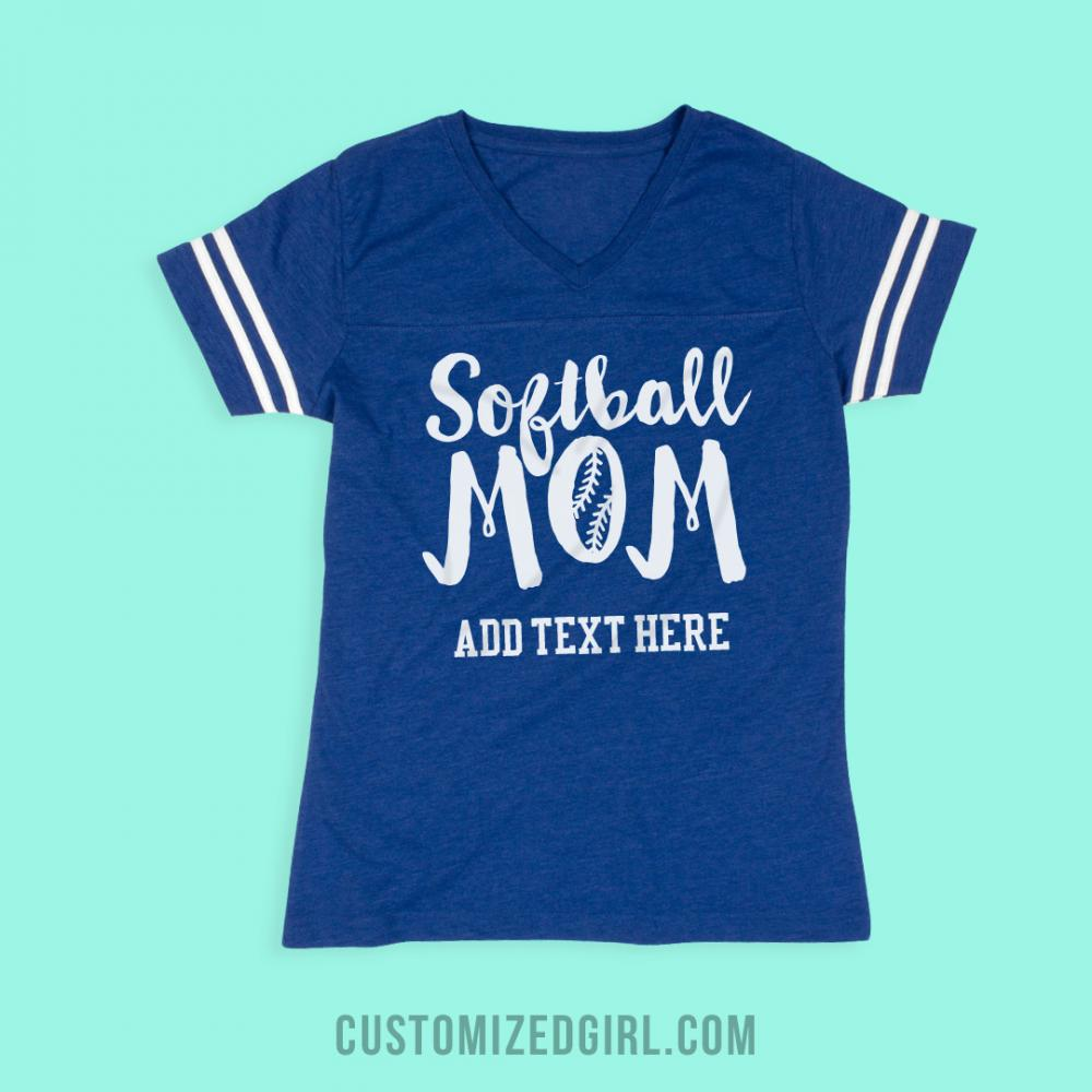 Custom Trendy Softball Mom