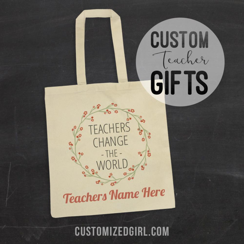 Custom Floral Teacher Gift