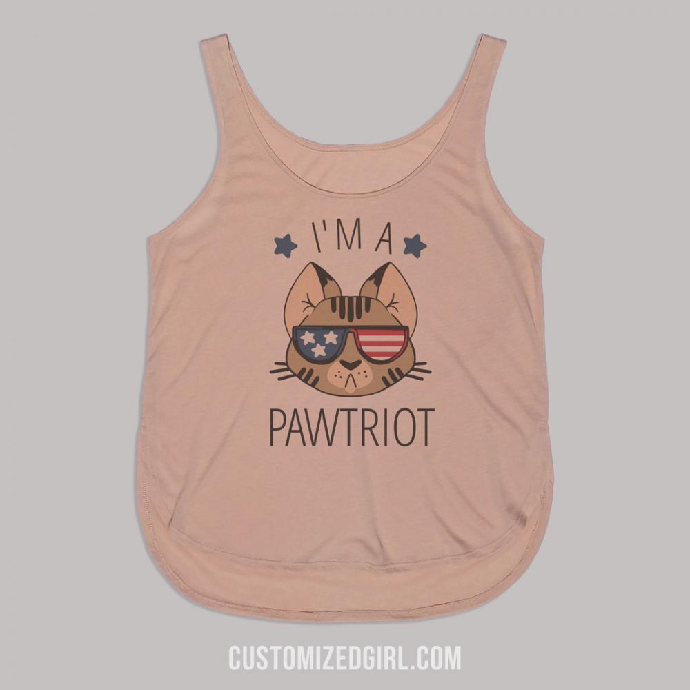 I'm A Pawtriot July 4th Tank