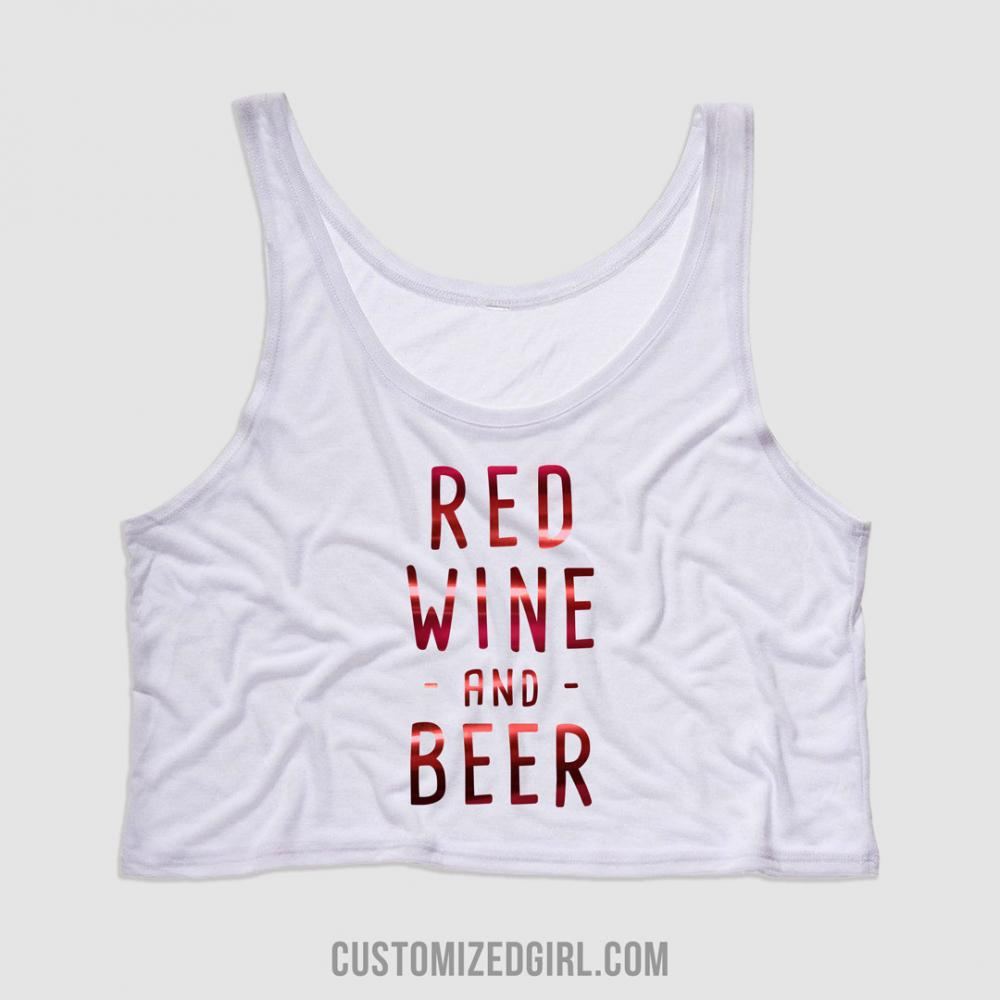 Red Metallic Red Wine & Beer