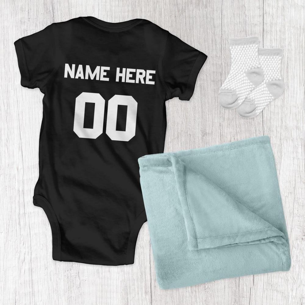 Custom Football Bodysuit For Baby